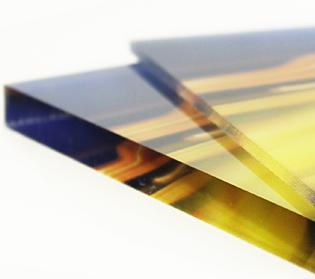 Detail randen plexiglas