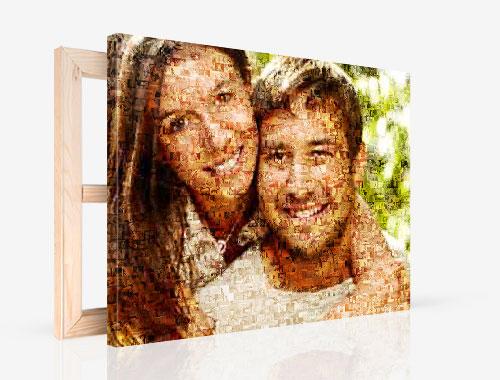 Fotocanvas met mozaiek