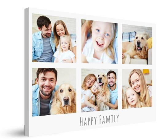 Fotocollage voorbeeld van gelukkige familie