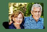 Fotomozaiek klantbeoordeling met paar