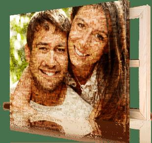 Fotomozaiek met foto van paar op canvas