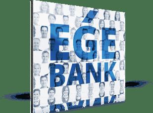 Fotomozaiek voor een bank