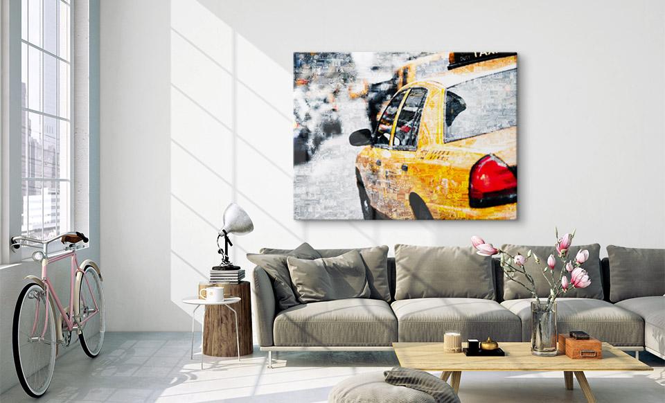 fotomozaiek op plexiglas woonruimte