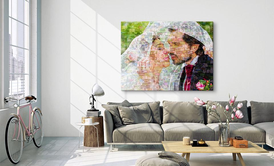 mozaiek foto woonruimte