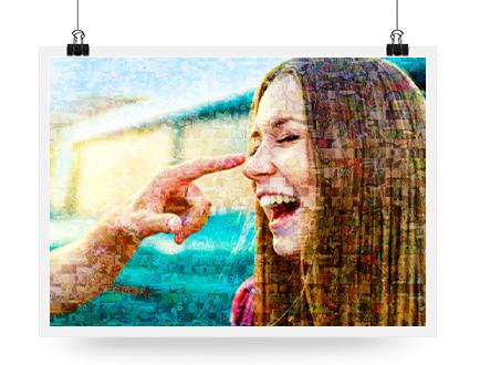 mozaiek poster opknoping